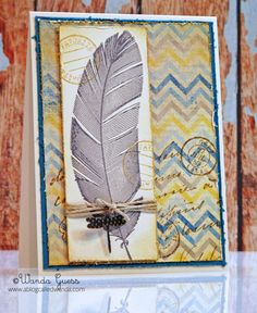 Vintage Feather card by stampcatwg - Cards and Paper Crafts at Splitcoaststampers