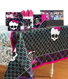 Monster High Deluxe Party Supplies Pack Including Plates, Cups, Napkins, and Tablecover- 8 Guests by Amscan, http://www.amazon.ca/dp/B008GKNSLO/ref=cm_sw_r_pi_dp_37IArb00Z0YM0