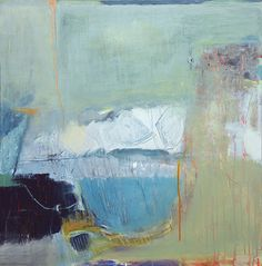 David Mankin | Contemporary Abstract Artist | Cornwall, 'Walking in the Clouds', acrylic and mixed media on canvas, 100cm x 100cm