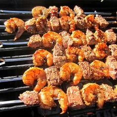 For the surf and turf lover! It's a dream come true! Okay, maybe I'm exaggerating a bit, but it's all right there on one skewer for you. Grill it, slide the shrimp and beef off on your plate, add y...