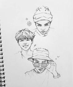 Kpop Drawings, Pencil Art Drawings, Drawing Sketches, Drawing Art, Aesthetic Drawing, Flower Doodles, Sketch Inspiration, Sketch Painting, Kpop Fanart