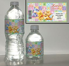 winnie the pooh baby shower | 20-WINNIE-THE-POOH-BABYSHOWER-PERSONALIZED-GLOSS-WATER-BOTTLE-LABELS ...