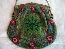 Vintage French Beaded Purse Bag Pocketbook from Paris 1920's era