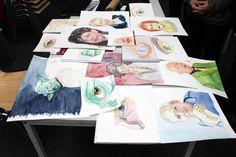 Portraitmalerei in Aquarell | Ergebnisse aus dem Workshop Grundlagen des Portraits in Aquarell (c) Frank Koebsch