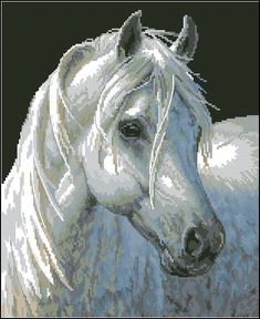 Gentle Strength - Artwork of Persis Clayton Weirs Cross Stitch Horse, Mermaid Cross Stitch, Cross Stitch Animals, Cross Stitching, Cross Stitch Embroidery, Cross Stitch Patterns, Horse Drawings, Pretty Horses, Adult Coloring Pages