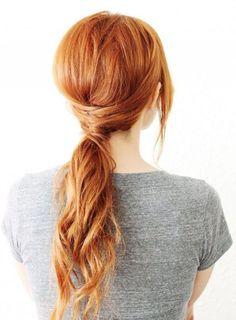 Cute ponytail hairstyle Ideas For Medium Hair0241