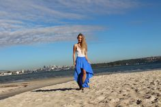 The Barcelona Skirt Fabric; Viscose in Electric Blue From ByTempest  www.bytempest.com Instagram; @bytempest Photos by Avenew @_avenew_
