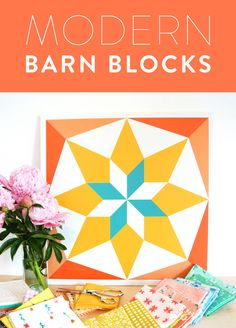 Barn blocks just got a makeover. I'm talking – bright, fresh colors, lightweight AND (this is my favorite part) made for both indoor and outdoor display.    If you're like me and spend a good portion of your life rearranging your furniture, you will appreciate this feature a lot. Since getting my barn block last week I've already hung it up in three different places. The consensus – I need three different blocks for each of those places.