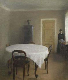 Vilhelm Hammershoi, Interior, the Dining Room in Hammershøi's Childhood Home, Frederiksberg Allée, 1891