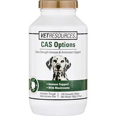 VETRESOURCES Canine CAS Options  120 Tablets *** Click image to review more details.Note:It is affiliate link to Amazon.
