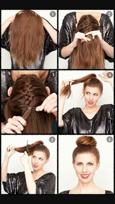 You can find all of these hairstyles on youtube.