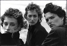 Marie-Sophie Wilson & Lynne Koester & Tatjana Patitz, Peter Lindbergh - Le Touquet - 1987