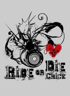 Ride or die chicks! My Ride Or Die, Favorite Color, Favorite Things, Shirt Designs, My Love, My Style, Sexy, T Shirt, Skull