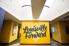 "Commission by the City of Louisville to design some interior murals for the offices of the Louisville Forward initiative. Using the city's brand colors I created several pieces that embodied the spirit of the initiative, centered around their slogan of ""L…"