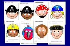 Pirates Masks Free Party Printables by Sparkle Box