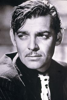 CLARK GABLE (Gone With The Wind, It Happened One Night, Mutiny On The Bounty, Run Silent Run Deep and The Misfits, ; died in November of 1960 of coronary thrombosis a week after suffering a serious heart attack at the age of 59)