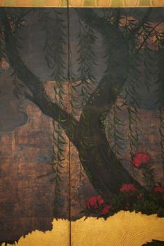 19th c. Japanese Two Panels Screen 5