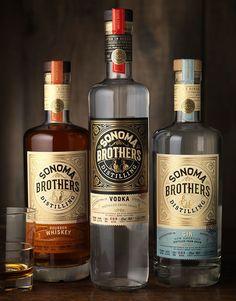 CF Napa Brand Design - Sonoma Brothers Distilling #packaging #design — World Packaging Design Society│Home of Packaging Design│Branding│Brand Design│CPG Design│FMCG Design