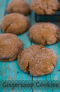 Gingersnap Cookies - Traditional Christmas cookies made with molasses and rolled in sugar