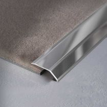 Stainless steel transition profile / aluminum / brass / for tiles