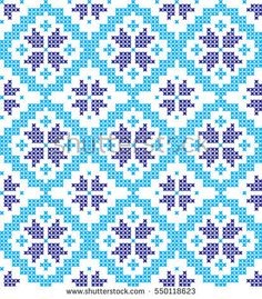 seamless embroidered cross-stitch ornament national pattern