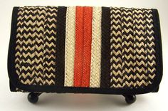 Tri fold wallet for women  eco friendly  hand woven by ColombiArts, $25.00