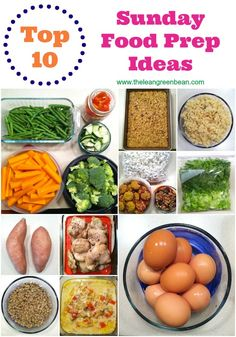 Want to start prepping food on Sunday? Here are 10 food prep ideas to help you get started! This will make it easier to eat healthy during busy weeks!