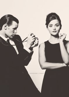 cutest couple. (matt smith + jenna louise coleman)