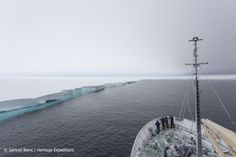 Breaking world records in Antarctica. On the 16th Feb 2016 the Akademik Shokalskiy sailed its way into the record books by going further south than any vessel has previously done in the Bay of Whales in the Eastern Ross Sea.