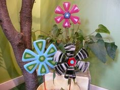 Fused Glass Garden Stakes from Copper Moon Studio