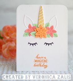 Terrific Totally Free Birthday Card for girls Tips Getting your invited guests amusing, thoughtful, or perhaps sentimental special birthday cards is definitely a great ges Cricut Birthday Cards, Special Birthday Cards, Unicorn Birthday Cards, Homemade Birthday Cards, Girl Birthday Cards, Birthday Cards For Friends, Birthday Greeting Cards, Homemade Cards, Free Birthday