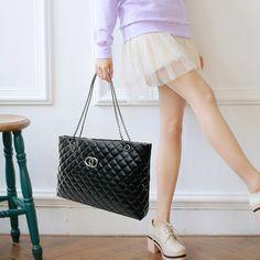 New Fashion Women Shoulder Bags Chain Lady Channels Handbags Bags Plaid Women Shopping Bags Large Capacity Sacoche Homme wm0219 #women, #men, #hats, #watches, #belts, #fashion, #style
