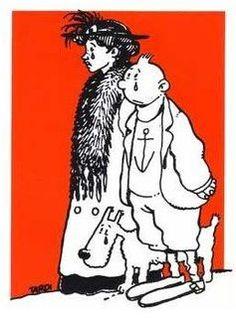 Tintin et Adèle Blanc-Sec