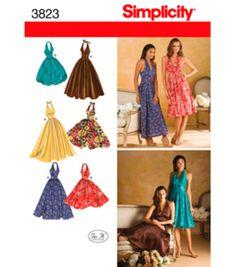 Simplicity Pattern 3823R5-Misses Dress-Sz 14-22Simplicity Pattern 3823R5-Misses Dress-Sz 14-22,