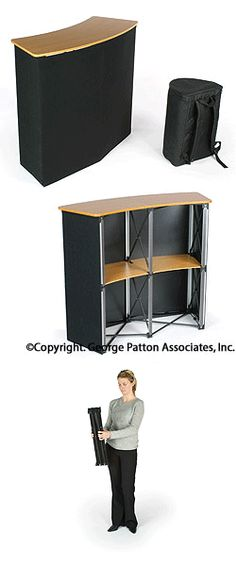 Portable Counter: Black Velcro with MDF Counter. Thinking Great Portable Bar for Outdoors & store away in Winter!