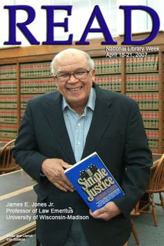 "2007 READ Poster - Professor James E. Jones (Emeritus) reading ""Simple Justice"" by Richard Kluger"