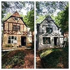 Tudor house before and after tudor homes in 2019 - Tudor revival exterior paint colors ...