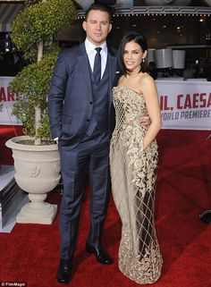 Love is in the air: Channing and Jenna are parents to three-year-old daughter Everly; the twosome wed in 2009 after dating for three years; pictured on February 1 at the premiere of Hail, Caesar! in Westwood, CA