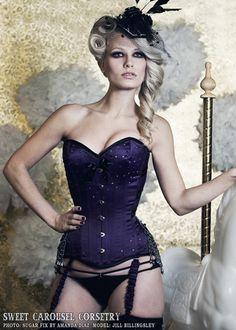 Burlesque IV - Designer Corsets - Sweet Carousel Corsetry