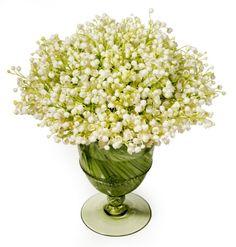 Belle Fleur lily of the valley arrangement in a Juliska goblet
