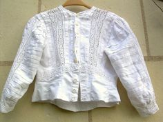 1900s empire shirt in french linen victorian blouse by DuChateau