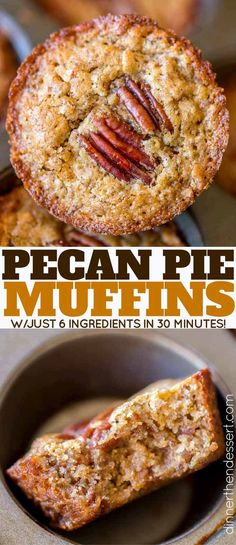 Pecan Pie Muffins with just 6 ingredients are the easiest sweet treat on your dessert table all holiday season long. And they're even better the next day!