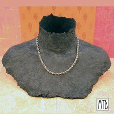 papier mache necklace display