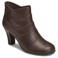 Women's A2 by Aerosoles Best Role Ankle Boots - Brown 7.5