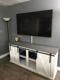 Hey, I found this really awesome Etsy listing at https://www.etsy.com/listing/505731785/sliding-barn-door-tv-stand-media-console