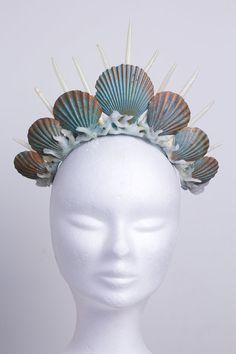 Mermaid crown tiara headdress turquoise ($138.42)