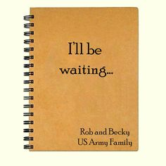 Kraft paper Military girlfriend/spouse Deployment journal or notebook. Keep track of the journey and memories from a deployment or long distance