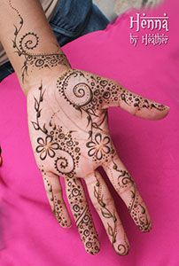Springy, fun Khaleeji design from Henna by Heather - adapted from Liz Ging's Henna from the Arabian Penninsula