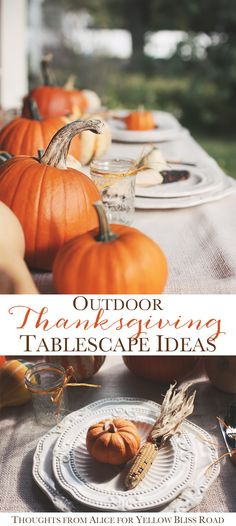 Outdoor Thanksgiving Tablescape Ideas