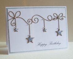 Memory Box Dies- Precious Stars 98546, Corner Bow 98371 Ella's Design: Clean and simple...